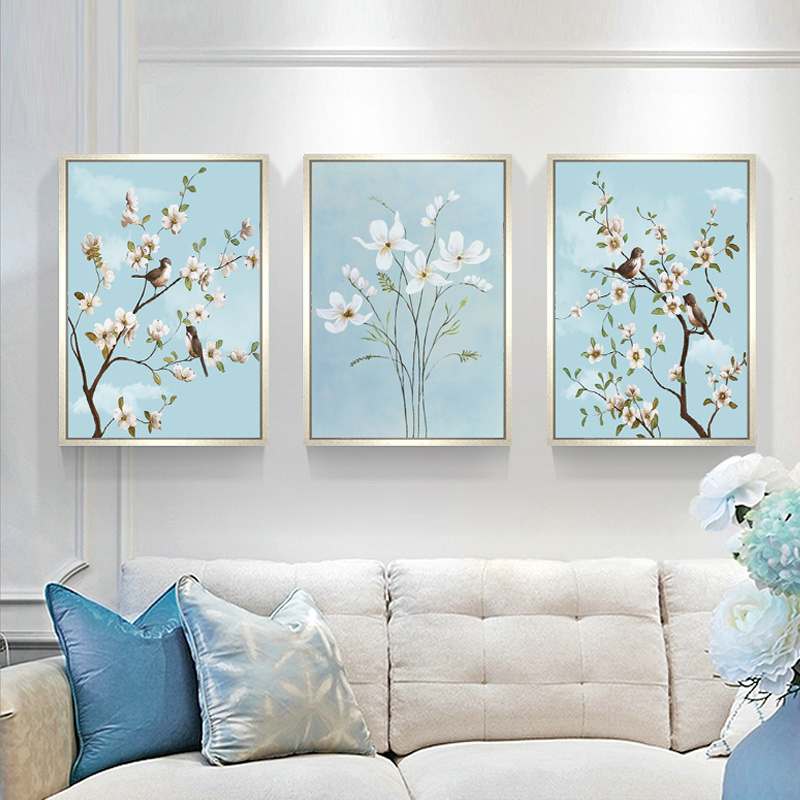 Gyémántokkal hímzett virágok Hármas festmények strasszos - Művészet, kézművesség és varrás