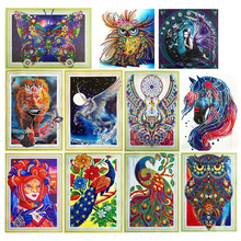 Special Shape Diamond Embroidered Animal Crystal  5D DIY Painting Cross Stitch Mosaic Decoration