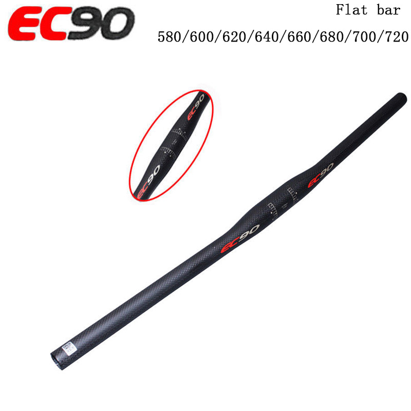 EC90 25.4 Carbon fiber <font><b>Handlebar</b></font> Matt Riser Bar Flat Bar Road Bike Handle bar 580-<font><b>760mm</b></font> Cycling HandlebarBike Parts image