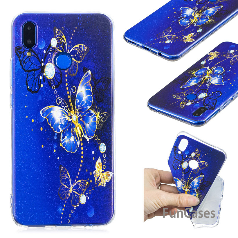 Case For Huawei Nova 3i Case Silicone For Huawei P Smart Plus Transparent Case Cute Clear Pattern Phone Case Huaewi capinhas(China)