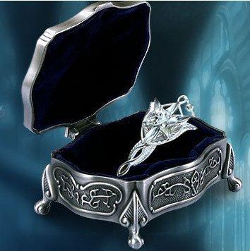 El señor of The anillo Arwen estrella de la tarde colgante de plata 925 + Metal joyero un Set envío gratis venta al por mayor