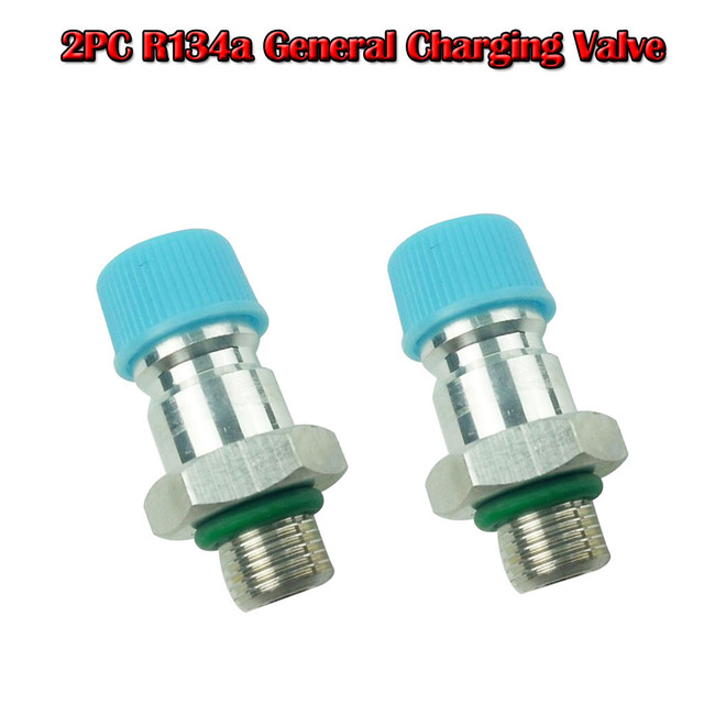 2PC R134a tire General Charging Valve Solder Onto Pipeline Automotive Air Condition Easy to be used carried Calibre screw 3/8 8Z