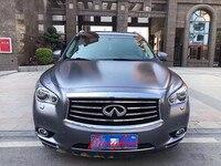 1,52x20 м украшение автомобиля Матовый хромированная виниловая упаковка Атлас темно серый металлик винил