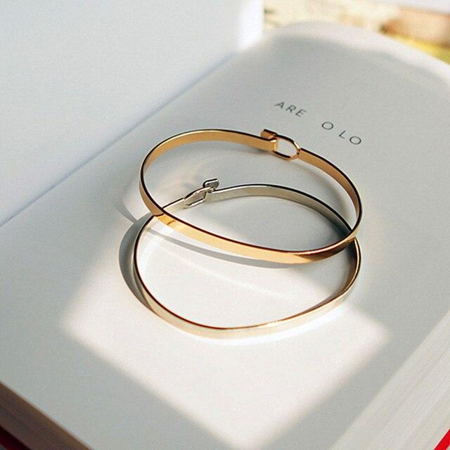 Минималистский моды личности контракт тонкой золотой браслет женская мода красивые браслеты бесплатно отправить браслет