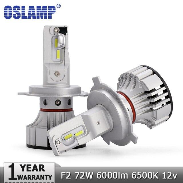 Oslamp 72W 6000LM H4 H7 H11 9005 9006 Car Led Headlight Bulbs CSP Chips Car Light Bulb 6500K Auto Headlamp Fog Lights 12v 24v
