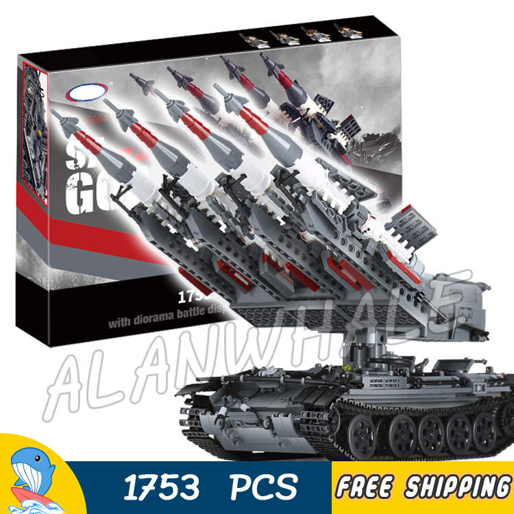 1753pcs SA-3 GOA Guideline Missile Russian Multiple Rocket Launchers Tank 06004 Model Building Blocks Toys Compatible With Lego