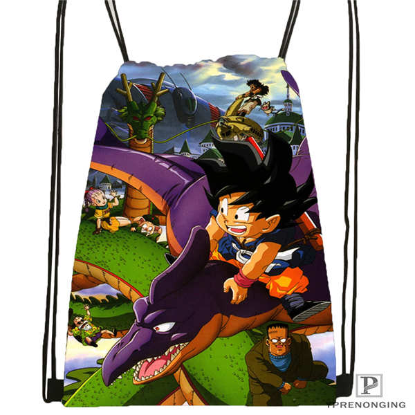 Custom Dragon_ball_@1 Drawstring Backpack Bag Cute Daypack Kids Satchel (Black Back) 31x40cm#2018611-1(13)
