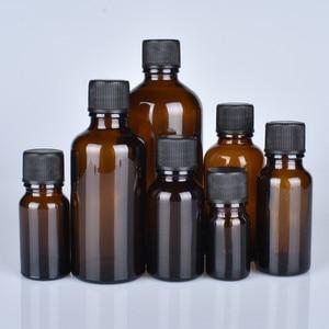 Image 4 - 6 pcs/lot 100 ml 50 m 30 ml 20 ml 15 ml 10 ml 5 ml 1/3 oz 1 oz bouteilles en verre dhuile essentielle ambre épaisse avec des récipients en verre à capuchon noir