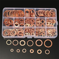 150pcs Solid Copper Washers Copper Gasket Washers Sealing Ring Set With Box 15 Sizes M5 M22