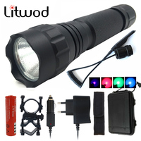 Z30 Tactical Lights Red Green Purple Blue White CREE XM L T6 Led Flashlight Torch Camping