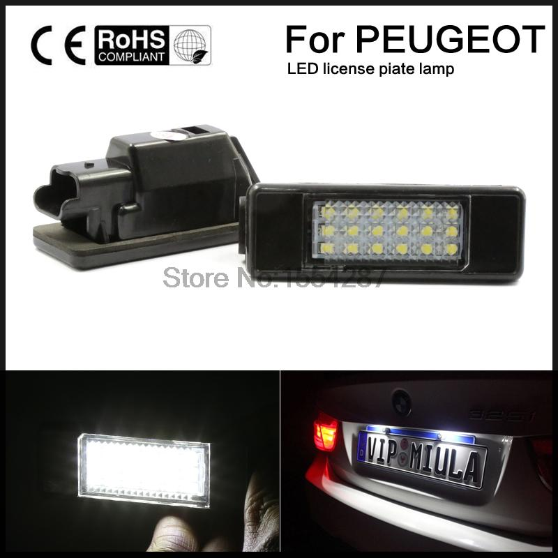 LED SMD License Plate Light For CITROEN  C2 3D/C3 5D/C4 3D/C4 5D/C5 4D/C5 5D/C6 4D/C8 4D DS3 3D cltgxdd aj 131 micro switch 3 5 3 1 8 for citroen c1 c2 c3 c4 c5 c6 c8 remote key fob repair switch micro button