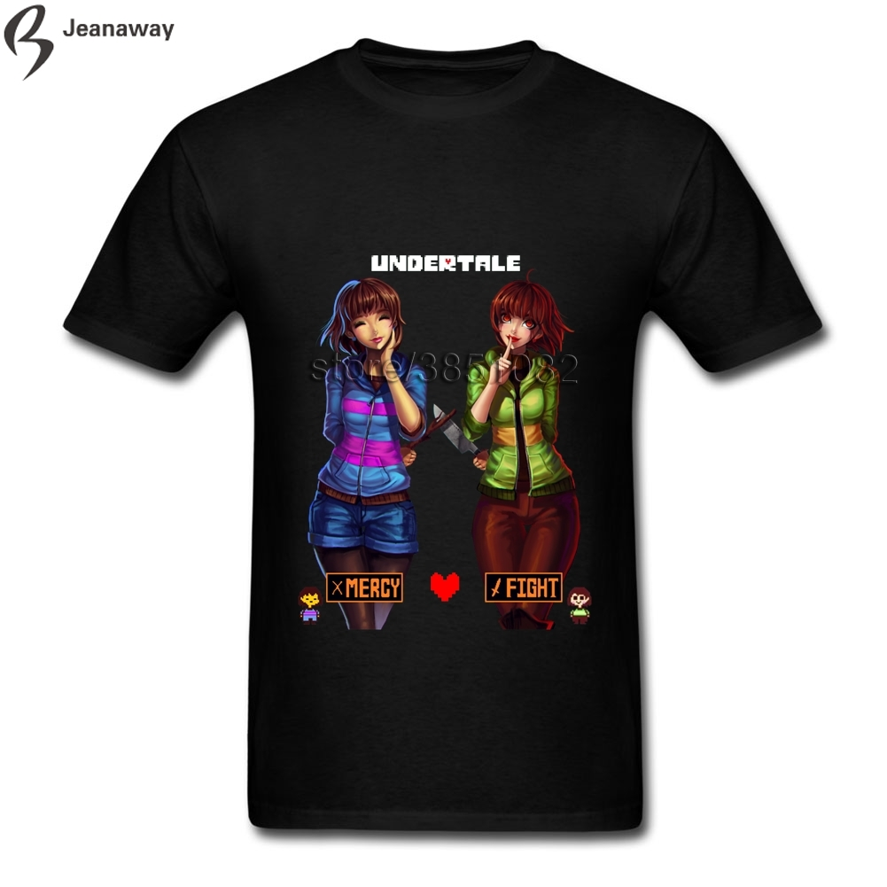 Anime Undertale Mercy Or Fight Man Tee O Neck 100 Cotton Men Shirt Hip Hop Tops In T Shirts From Mens Clothing Accessories On Aliexpress
