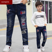 New Boys Jeans Kids Denim Pants Children Casual Trousers  Spring Autumn Baby Boy Clothes 4-13year new spring autumn children s casual pants boy sports long pants kids trousers baby boys clothing outwear