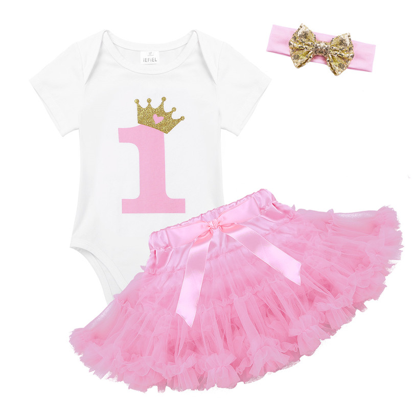 iEFiEL Baby Girls Princess Birthday Outfit Sleeveless Tops /& Tutu Skirt Kids Party Dress Clothes Set