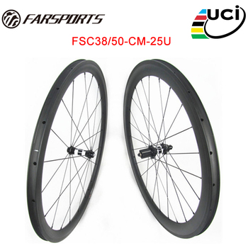 Factory price Toray 700C full carbon fiber 38mm front 50mm rear road bicycle wheelset with DT 350 hub offer OEM custom service