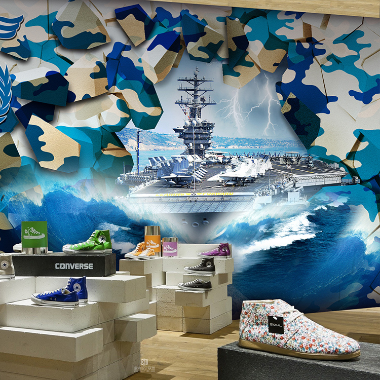 Online buy wholesale camouflage wallpaper from china for Camouflage mural