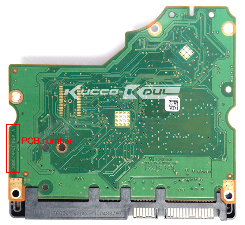 Hard Drive Parts PCB Logic Board Printed Circuit Board 100574451 For Seagate 3.5 SATA Hdd Data Recovery Hard Drive Repair