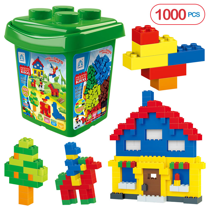 Learning Toys 1000pcs Building Blocks DIY Educational Assembling Toy Plastic Base Blocks Bricks Small Paticles For Kids Gifts