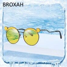 Милые круглые детские солнцезащитные очки мода металла марки дети солнцезащитные девочки мальчики очки для океана солнцезащитные очки Enfant
