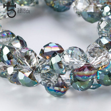 10mm Czech Glass Rhinestone Shape Beads for Beadwork Necklace Making bead Transparent Green Crystal Faceted Wholesale Y901