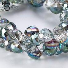 10mm checa vidro strass forma contas para beadwork colar que faz grânulo transparente verde cristal facetado contas por atacado y901