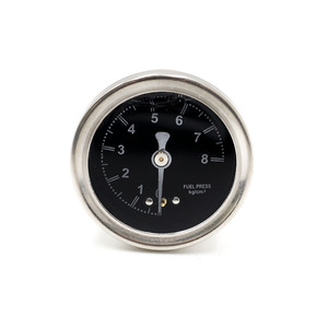 Image 3 - CNSPEED Fuel Pressure Regulator Gauge with pointer 0~8 black face YC100491