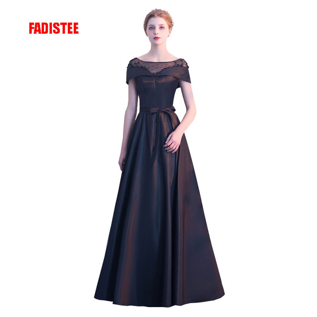 FADISTEE New arrival elegant party dress evening dresses Vestido de Festa  gown beading short sleeves Robe 76f2a1abf02e