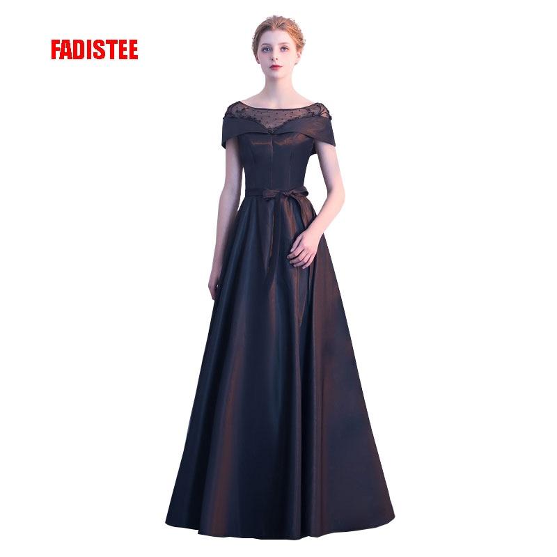 FADISTEE New arrival elegant party   dress     evening     dresses   Vestido de Festa gown beading short sleeves Robe De Soiree prom   dress