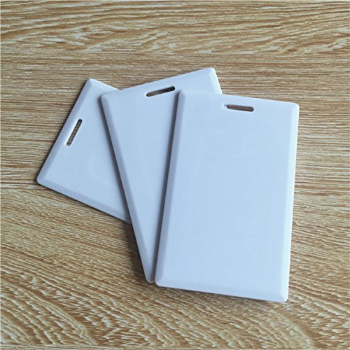 RFID Thick Clamshell Card 125KHz Writable Rewrite T5577 Proximity Access Card duplicator card ID blank card (pack of 100)