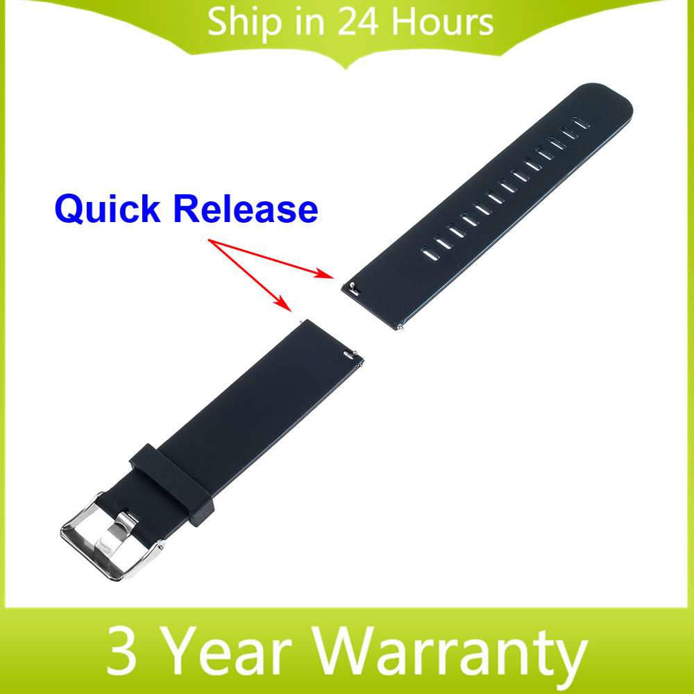 Quick Release Watch Strap 22mm for Motorola Moto 360 2 Gen 46mm 2015 Samsung Gear 2 R380 R381 R382 Silicone Rubber Band Bracelet 20mm watchband stainless steel smart watch band strap bracelet for motorola moto 360 2 2nd gen 2015 42mm smartwatch black silver