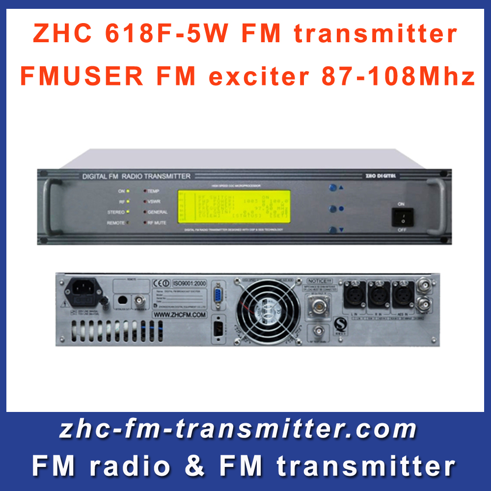 ZHC618F 5W FM Broadcast Transmitter Exciter Small Professional Fm Radio Station Broadcasting