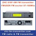 Zhc618f-5w 5 Вт FM трансляция передатчик fm-возбудитель малый профессиональные FM радио вещание