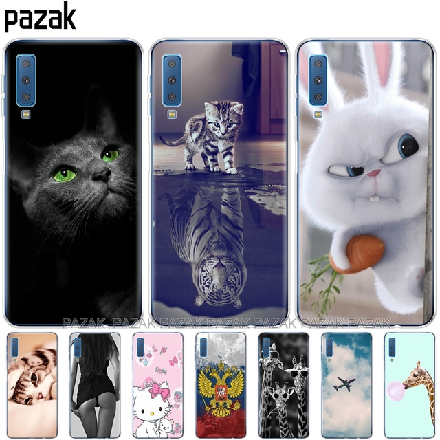 soft Cases For Samsung Galaxy A7 2018 Phone Cover Silicone Printing Back Case Cover For Samsung A7 2018 A750 A750F 6.0 Inch