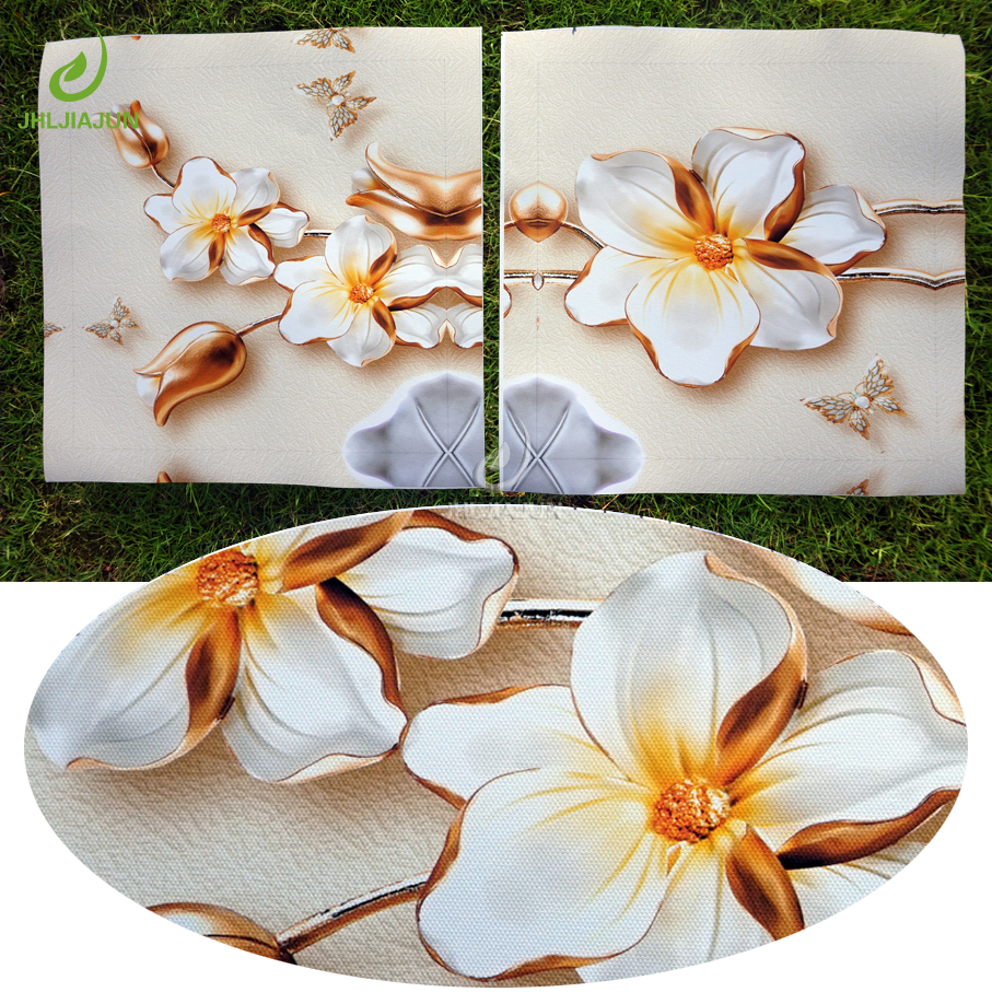Art Painting Wall Pictures For Living Room 3D Lotus Flower Home Decoration Modular Pictures For Kitchen Art Canvas Print Poster in Painting Calligraphy from Home Garden