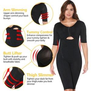 Image 3 - VASLANDA Women Full Body Shaper Post Partum Bodysuits Slimming Underwear Waist Girdles Trainer Butt Lifter Plus Size Shapewear