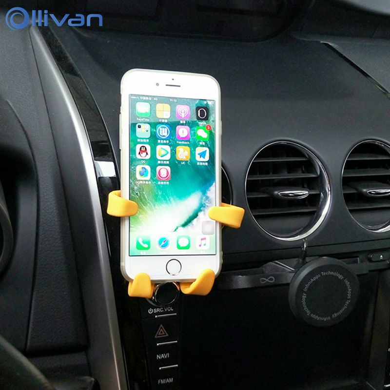 Ollivan Universal Car holder For iphone 8 Moby baby Silicone TPU Car phone holder For xiaomi redmi 4x Mobile phone Mount holder