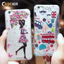 CASEIER Fashion Patterned Phone Cases For iPhone 7 8 Plus Soft Silicone Cover For iPhone 6 6s Plus X XS MAX XR 5S Funda Capinha(China)