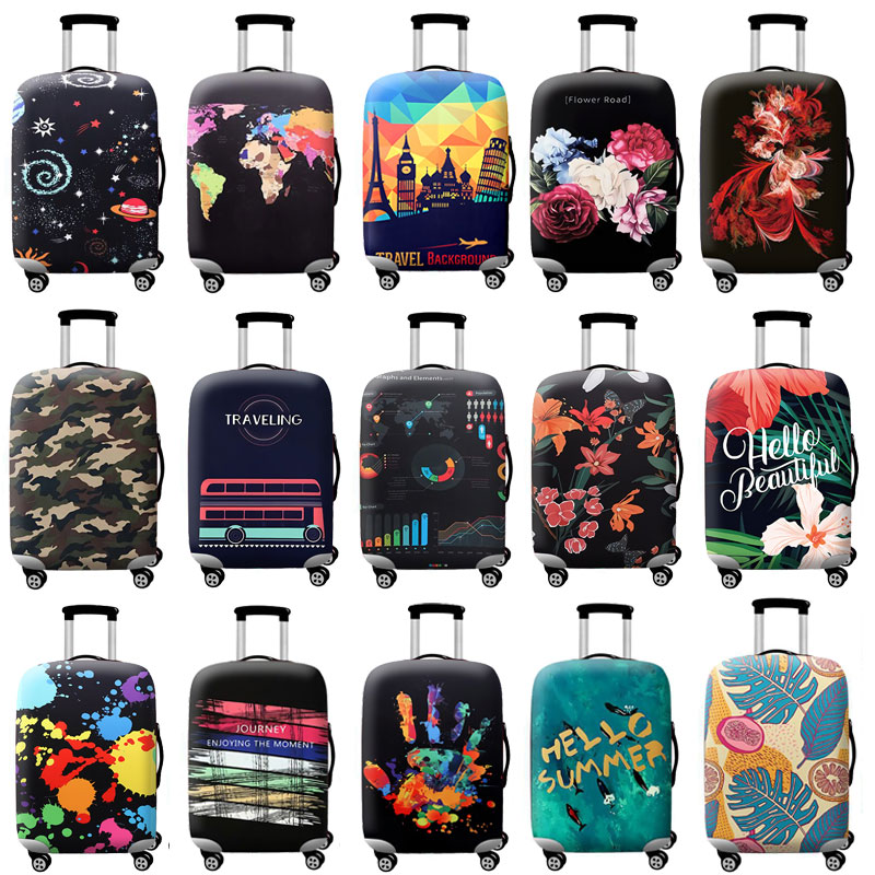 TLDGAGAS Thicker Blue City Luggage Cover Travel Suitcase Protective Cover For Trunk Case Apply To 19''-32'' Suitcase Cover