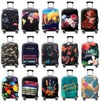 Tldgagas mais espessa cidade azul capa de bagagem mala de viagem capa protetora para caso de tronco aplicar a 19 suitcase 32-32 cover capa de mala