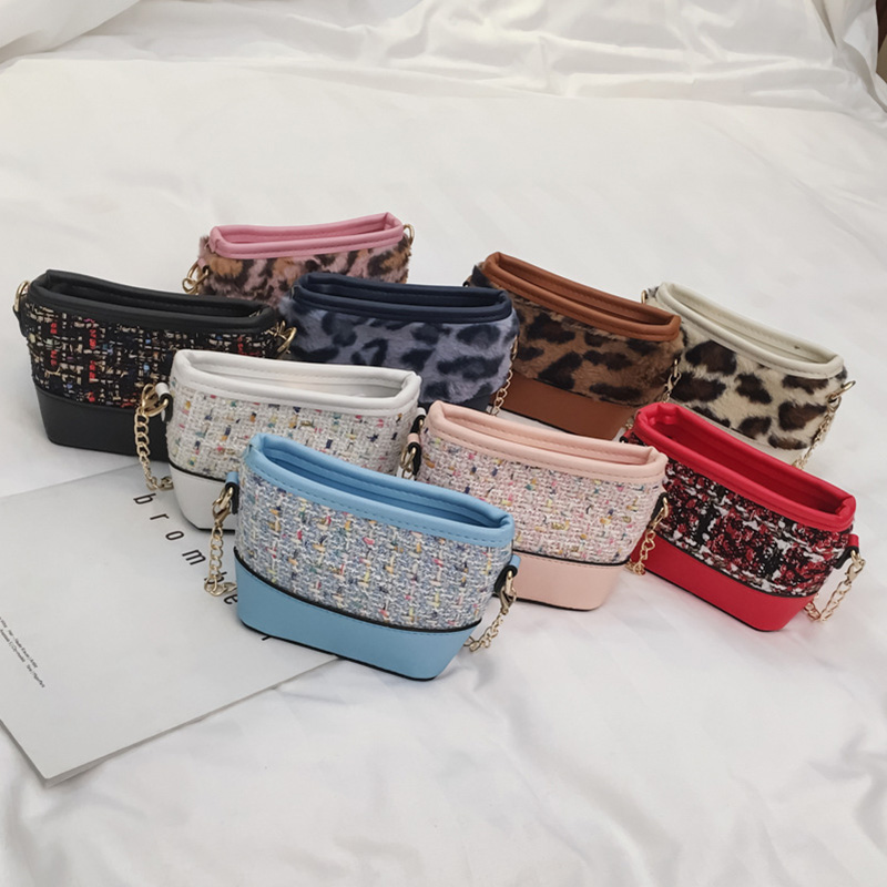 Lovely Baby Girls Mini Messenger Bag Cute Leopard Pattern Kids Baby Small Children Handbags Bags