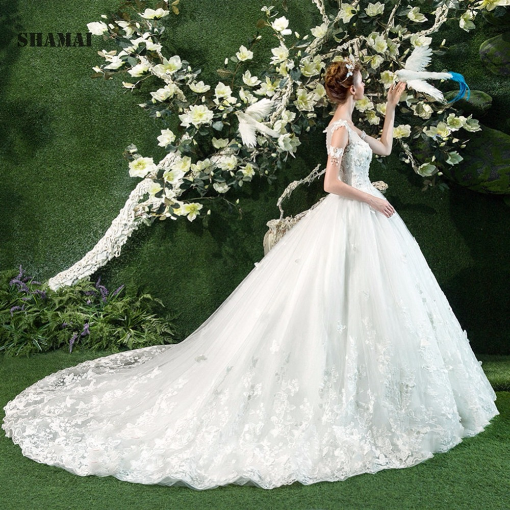 Butterfly Wedding Gown: Butterfly Wedding Dress Princess 2018 Bridal Ball Gown