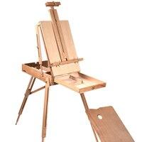 Портативный прочный складной деревянный мольберт для Цвет живопись Эскиз окна художника художников штатив картина поставки мольберты