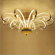 Modern simple style led ceiling ceiling living room lighting creative personality art crystal bedroom restaurant lights