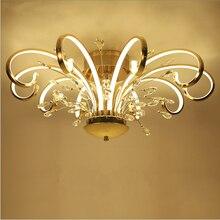 Moderne simple style led plafond plafond salon éclairage personnalité créative art cristal chambre restaurant lumières