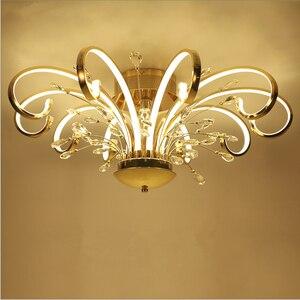 Image 1 - 現代のシンプルなスタイルのled天井天井のリビングルーム照明クリエイティブ人格アートクリスタル寝室のレストランが点灯