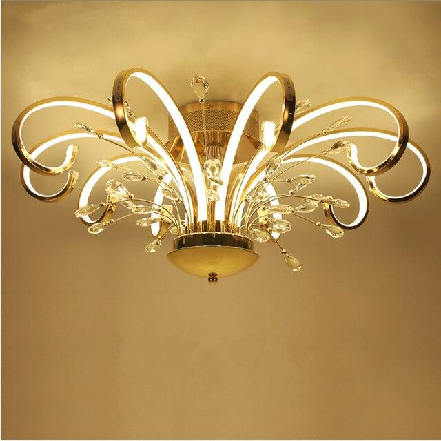 現代のシンプルなスタイルのled天井天井のリビングルーム照明クリエイティブ人格アートクリスタル寝室のレストランが点灯