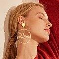 Женские серьги-подвески Vienkim, круглые серьги в богемном стиле с геометрическим узором, эффектные ювелирные изделия, 2019