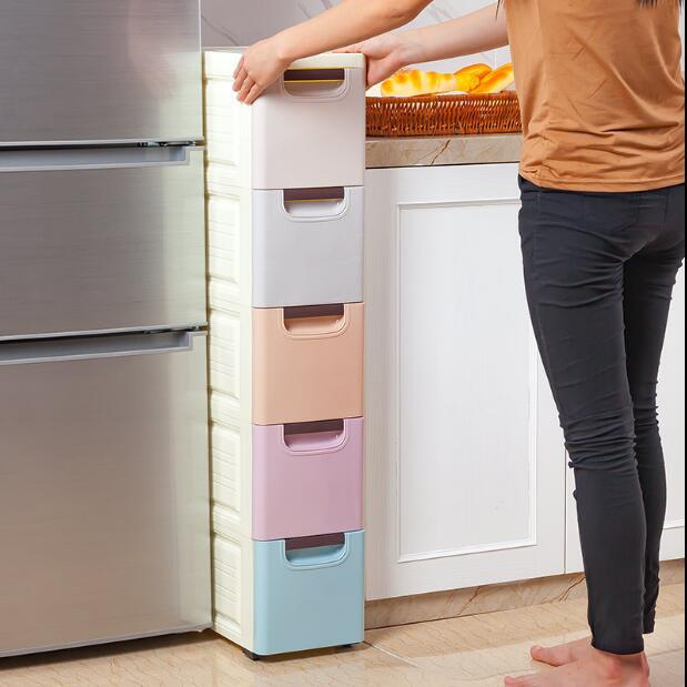 US $87.22 11% OFF|20/30 cm drawer type storage cabinet, kitchen bathroom,  arrangement shelf-in Storage Holders & Racks from Home & Garden on ...