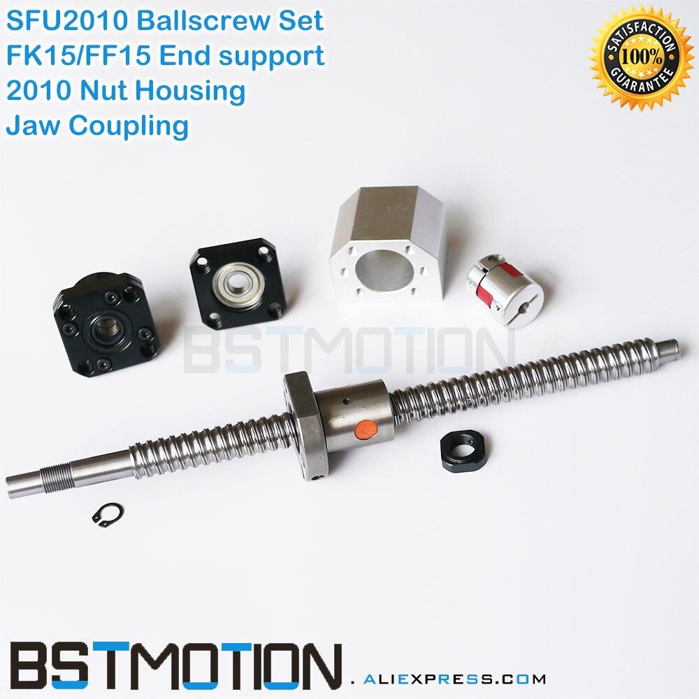 2010 Ball screw in customized length 300 400 500 600 700 800 900 1000 SFU2010 Nut
