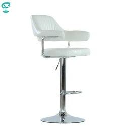 94534 Barneo N-152 эко-кожа кухонный белый барный стул с мягким сиденьем на газ-лифте стул высокий стул для барной стойки мебель для кухни кресло для...